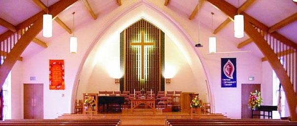 empty churchCROSS